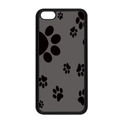 Dog Foodprint Paw Prints Seamless Background And Pattern Apple Iphone 5c Seamless Case (black) by BangZart