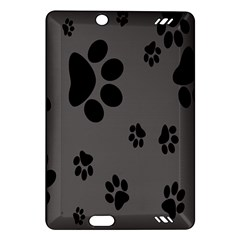 Dog Foodprint Paw Prints Seamless Background And Pattern Amazon Kindle Fire Hd (2013) Hardshell Case by BangZart