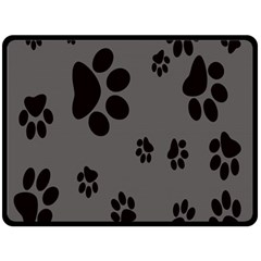Dog Foodprint Paw Prints Seamless Background And Pattern Double Sided Fleece Blanket (large)  by BangZart