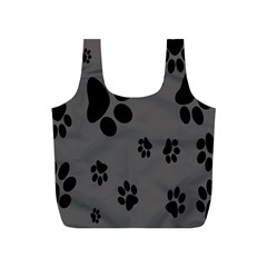 Dog Foodprint Paw Prints Seamless Background And Pattern Full Print Recycle Bags (s)  by BangZart