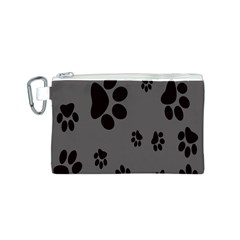 Dog Foodprint Paw Prints Seamless Background And Pattern Canvas Cosmetic Bag (s) by BangZart
