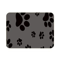 Dog Foodprint Paw Prints Seamless Background And Pattern Double Sided Flano Blanket (mini)  by BangZart