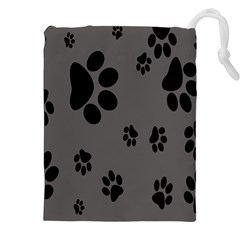 Dog Foodprint Paw Prints Seamless Background And Pattern Drawstring Pouches (xxl) by BangZart
