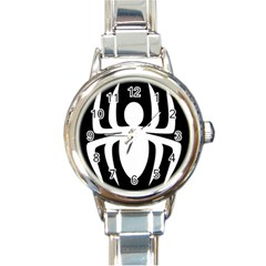 White Spider Round Italian Charm Watch by BangZart