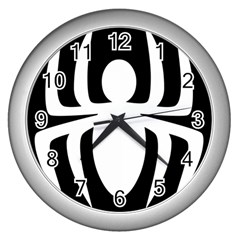 White Spider Wall Clocks (silver)  by BangZart