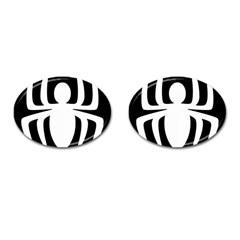 White Spider Cufflinks (oval) by BangZart