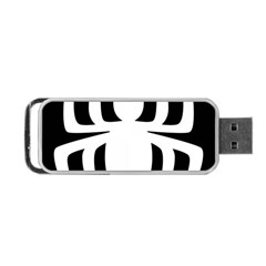 White Spider Portable Usb Flash (two Sides) by BangZart
