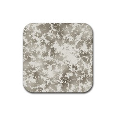 Wall Rock Pattern Structure Dirty Rubber Coaster (square)  by BangZart