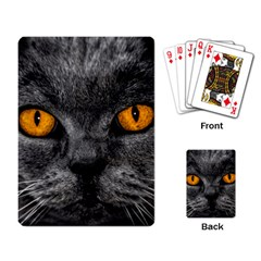 Cat Eyes Background Image Hypnosis Playing Card by BangZart