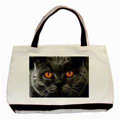 Cat Eyes Background Image Hypnosis Basic Tote Bag by BangZart