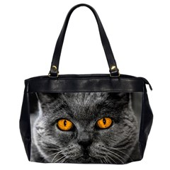Cat Eyes Background Image Hypnosis Office Handbags (2 Sides)  by BangZart