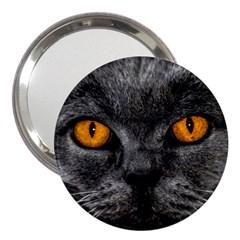 Cat Eyes Background Image Hypnosis 3  Handbag Mirrors by BangZart
