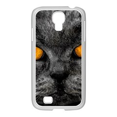 Cat Eyes Background Image Hypnosis Samsung Galaxy S4 I9500/ I9505 Case (white) by BangZart