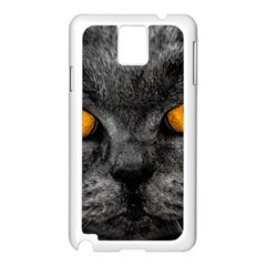 Cat Eyes Background Image Hypnosis Samsung Galaxy Note 3 N9005 Case (white) by BangZart