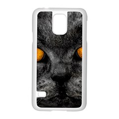 Cat Eyes Background Image Hypnosis Samsung Galaxy S5 Case (white) by BangZart