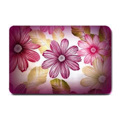 Flower Print Fabric Pattern Texture Small Doormat  by BangZart