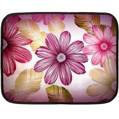 Flower Print Fabric Pattern Texture Fleece Blanket (mini) by BangZart