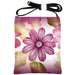Flower Print Fabric Pattern Texture Shoulder Sling Bags by BangZart