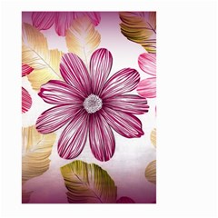 Flower Print Fabric Pattern Texture Large Garden Flag (two Sides) by BangZart