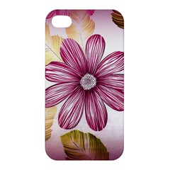 Flower Print Fabric Pattern Texture Apple Iphone 4/4s Premium Hardshell Case by BangZart