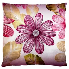 Flower Print Fabric Pattern Texture Large Cushion Case (two Sides) by BangZart