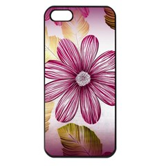 Flower Print Fabric Pattern Texture Apple Iphone 5 Seamless Case (black) by BangZart