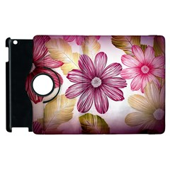 Flower Print Fabric Pattern Texture Apple Ipad 2 Flip 360 Case by BangZart