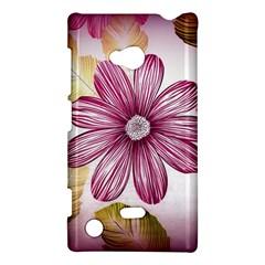 Flower Print Fabric Pattern Texture Nokia Lumia 720 by BangZart