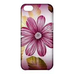 Flower Print Fabric Pattern Texture Apple Iphone 5c Hardshell Case by BangZart