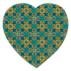 Vintage Pattern Unique Elegant Jigsaw Puzzle (heart) by BangZart