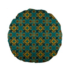 Vintage Pattern Unique Elegant Standard 15  Premium Flano Round Cushions by BangZart