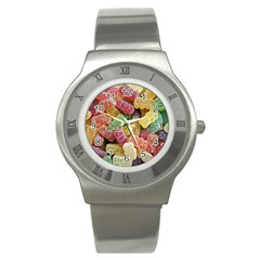 Jelly Beans Candy Sour Sweet Stainless Steel Watch by BangZart