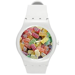 Jelly Beans Candy Sour Sweet Round Plastic Sport Watch (m) by BangZart