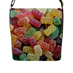 Jelly Beans Candy Sour Sweet Flap Messenger Bag (l)  by BangZart