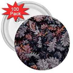Leaf Leaves Autumn Fall Brown 3  Buttons (100 Pack)  by BangZart