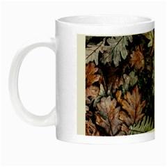 Leaf Leaves Autumn Fall Brown Night Luminous Mugs by BangZart