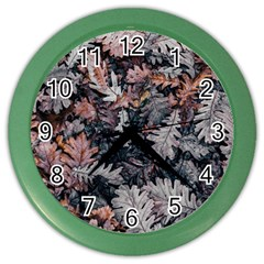 Leaf Leaves Autumn Fall Brown Color Wall Clocks by BangZart