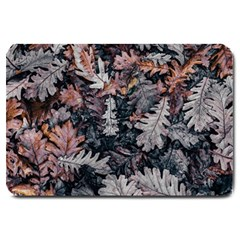 Leaf Leaves Autumn Fall Brown Large Doormat  by BangZart