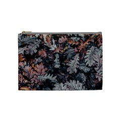 Leaf Leaves Autumn Fall Brown Cosmetic Bag (medium)  by BangZart