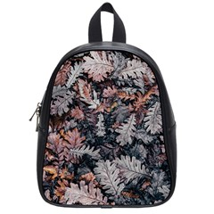 Leaf Leaves Autumn Fall Brown School Bags (small)  by BangZart