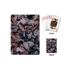 Leaf Leaves Autumn Fall Brown Playing Cards (mini)  by BangZart