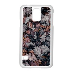 Leaf Leaves Autumn Fall Brown Samsung Galaxy S5 Case (white) by BangZart