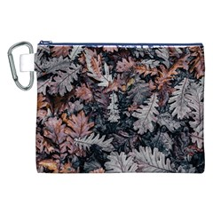 Leaf Leaves Autumn Fall Brown Canvas Cosmetic Bag (xxl) by BangZart
