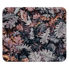 Leaf Leaves Autumn Fall Brown Double Sided Flano Blanket (small)  by BangZart