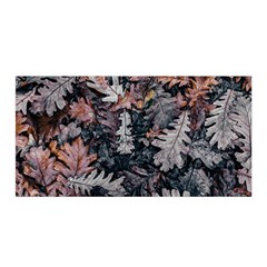 Leaf Leaves Autumn Fall Brown Satin Wrap by BangZart