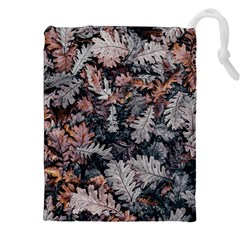 Leaf Leaves Autumn Fall Brown Drawstring Pouches (xxl) by BangZart