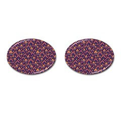 Abstract Background Floral Pattern Cufflinks (oval) by BangZart