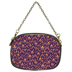 Abstract Background Floral Pattern Chain Purses (two Sides)  by BangZart