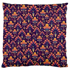 Abstract Background Floral Pattern Large Cushion Case (two Sides) by BangZart