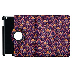 Abstract Background Floral Pattern Apple Ipad 2 Flip 360 Case by BangZart